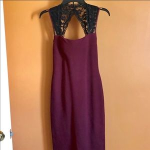 Dresses & Skirts - Lace burgundy dress